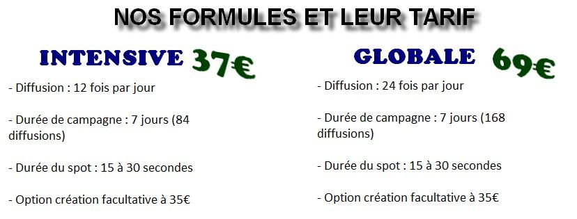 tarifs fr